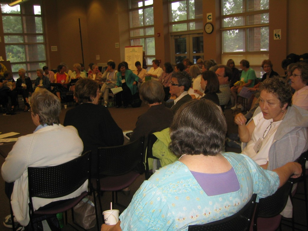 Attendees gather to learn and share.